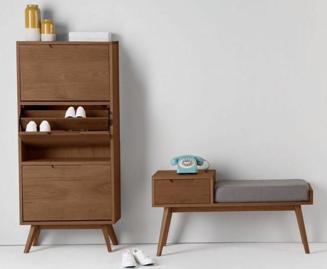 Комплект мебели для хранения в прихожей в стиле ретро