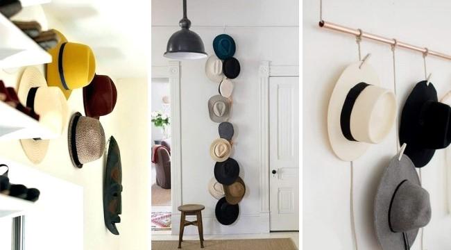 Как красиво хранить шляпы в прихожей