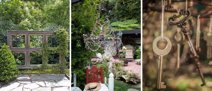Деревенский декор для двора частного дома