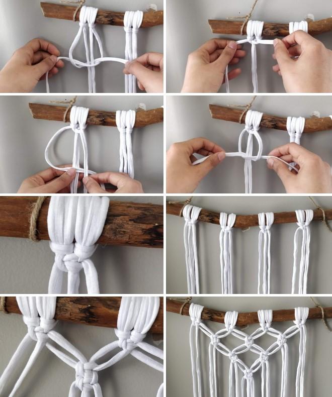 Как сплести макраме панно на стену - пошаговая инструкция с фото
