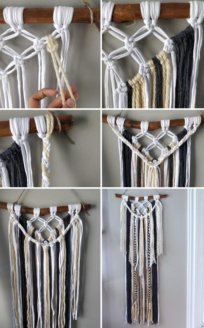 Схема плетения макраме своими руками: простые идеи панно для украшения стен