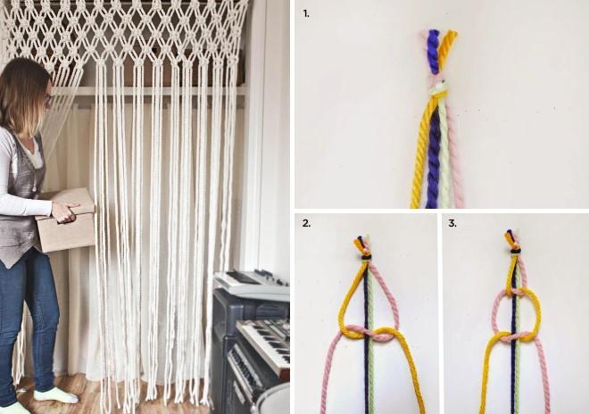 Как сплести шторы для интерьера: схема плетения своими руками