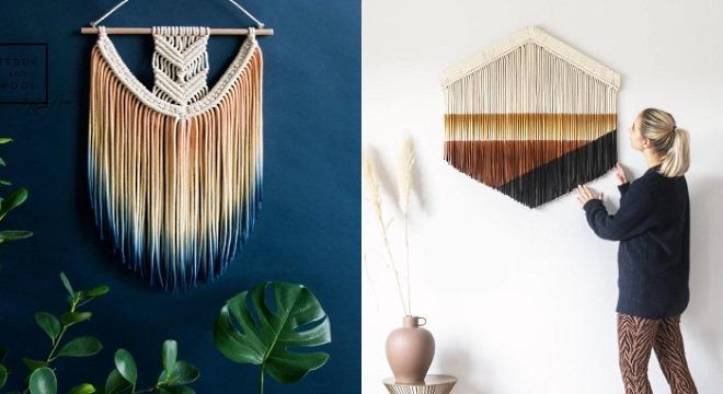 Макраме декор для интерьера: современные идеи и расцветки