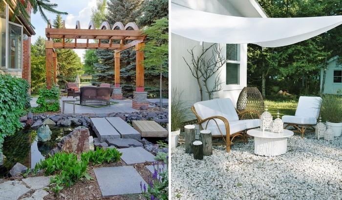 Идеи оформления зоны отдыха во дворе дома в деревне