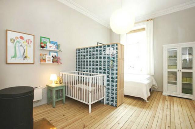 детский уголок для новорождённого в однокомнатной квартире фото