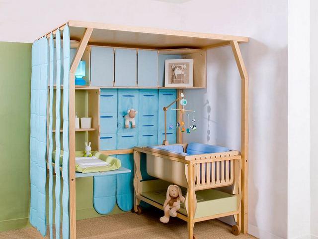 детский уголок для новорождённого в однокомнатной квартире