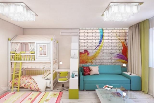 Яркие краски в комнате для вашего ребёнка