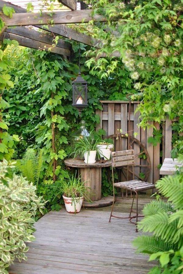 дизайн маленького двора частного дома пример