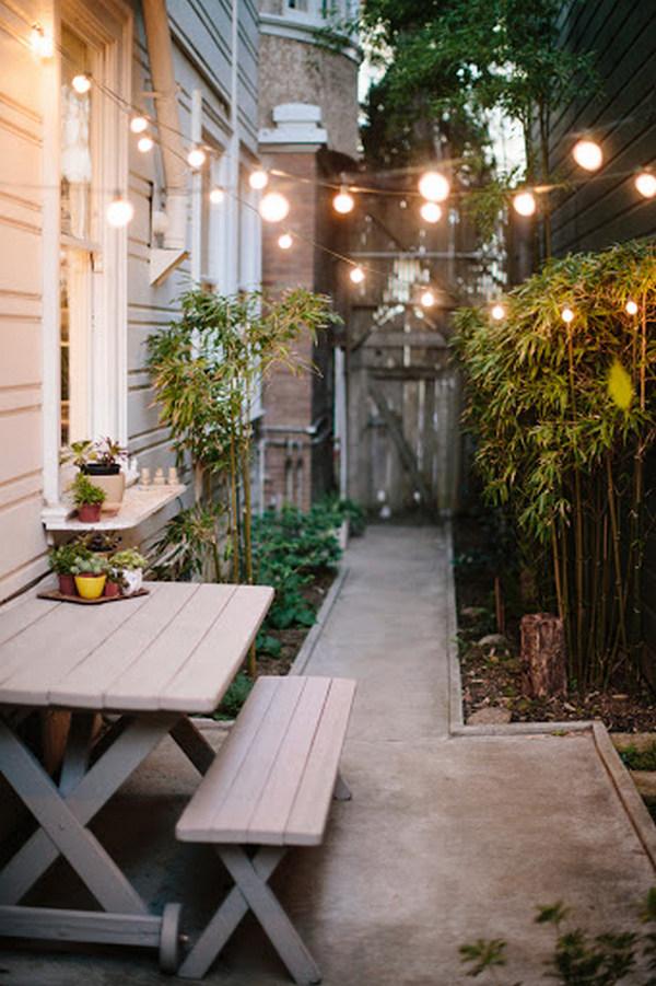 дизайн маленького двора частного дома своими руками