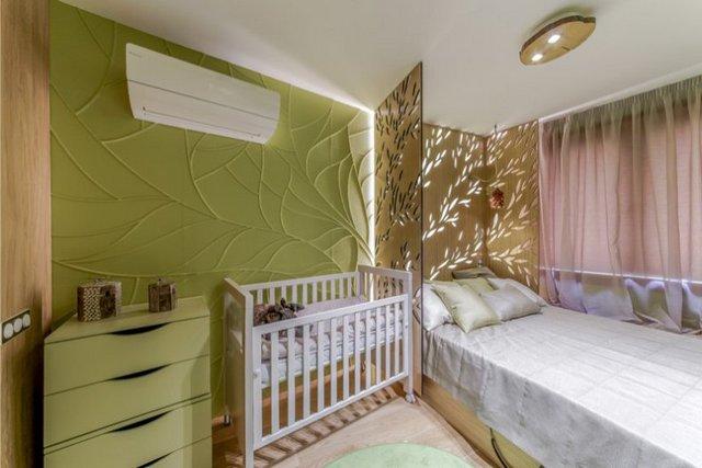 как красиво отгородить детскую кроватку в однокомнатной квартире
