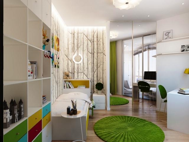 как сделать детский уголок в однокомнатной квартире идеи