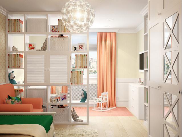 оформление детского уголка в однокомнатной квартире фото
