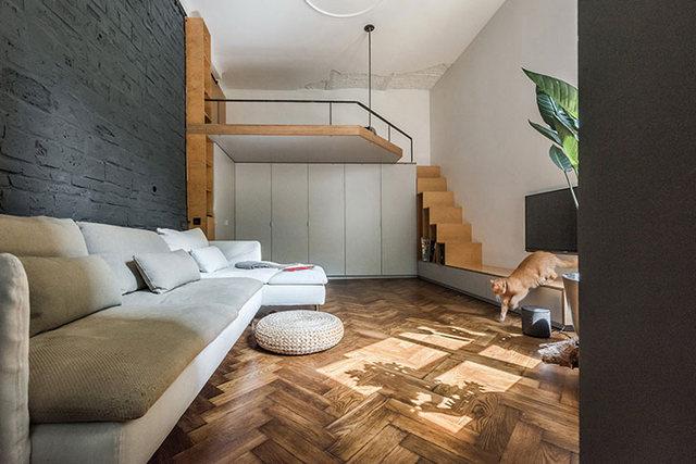 интерьер в стиле лофт в маленькой квартире фото