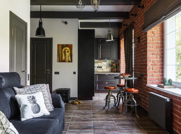 красивая квартира лофт фото