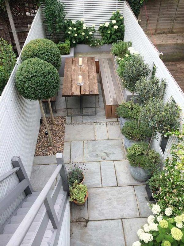 красивый двор частного дома пример