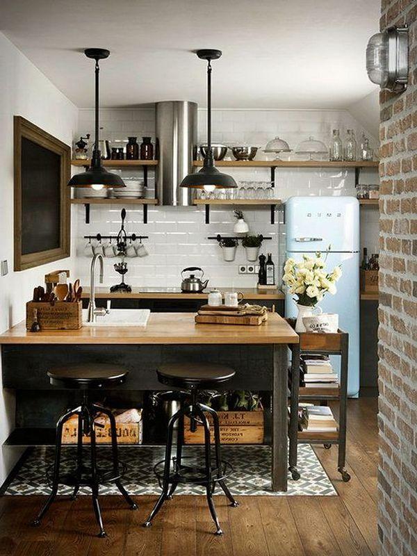 квартира в стиле лофт дизайн кухни