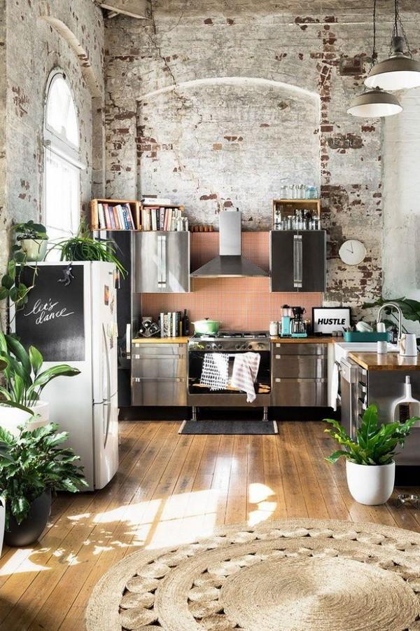квартира в стиле лофт пример дизайна кухни