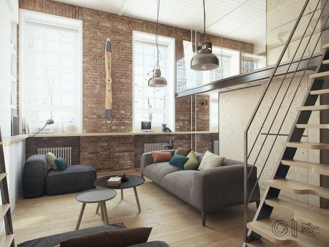 маленькая двухуровневая квартира