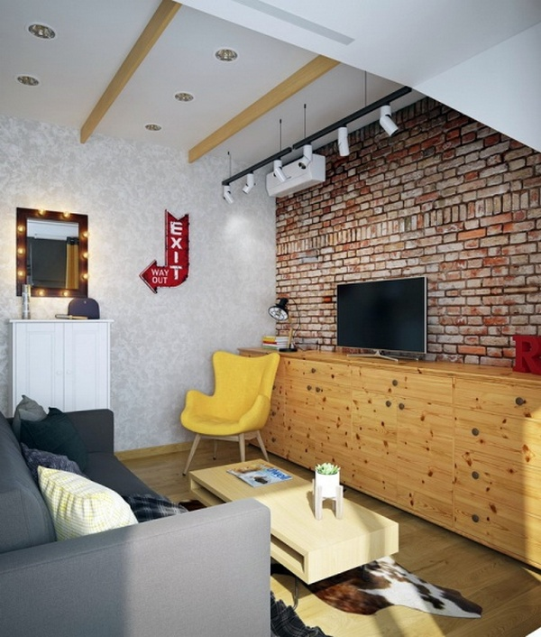 маленькая квартира лофт