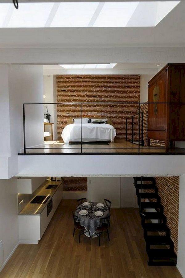 маленькая квартира в стиле лофт два уровня