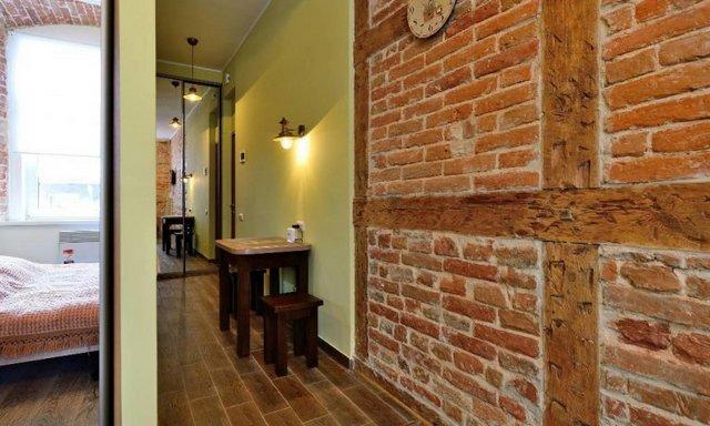 маленькая квартира в стиле лофт стены
