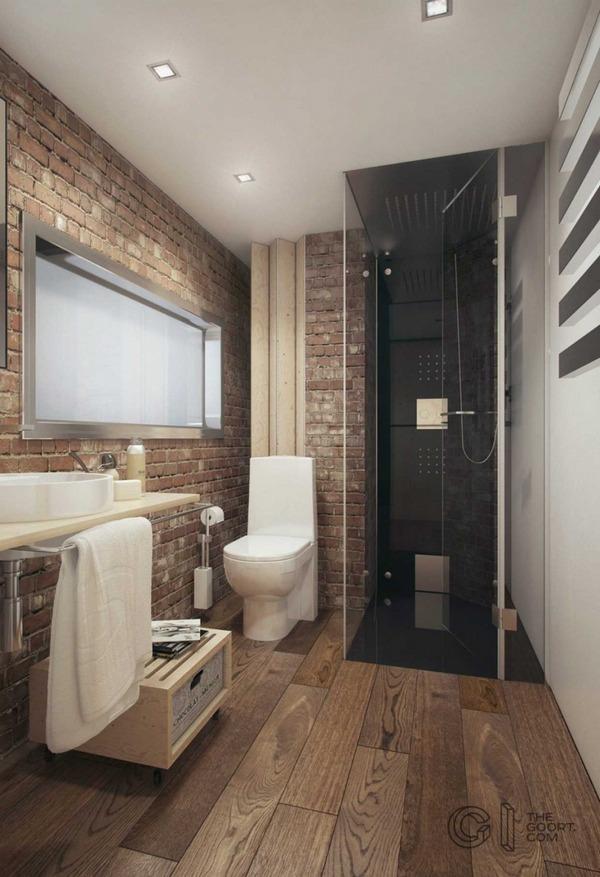 маленькая квартира в стиле лофт ванная