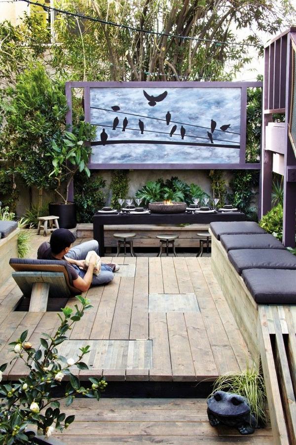 оформление маленького двора частного дома таунхаус