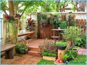 озеленение маленького двора частного дома