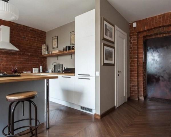 стиль лофт в маленьких квартирах пример фото