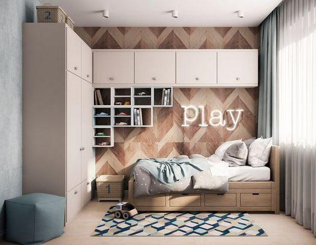 стильная детская зона в однокомнатной квартире