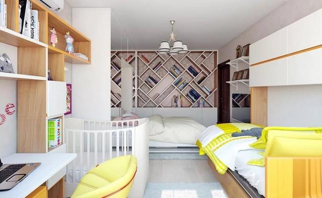 удачное оформление комнаты для ребёнка