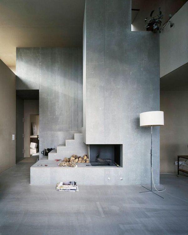 дизайн интерьера 2021 бетон
