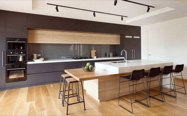 кухни в стиле минимализм в квартирах система хранения