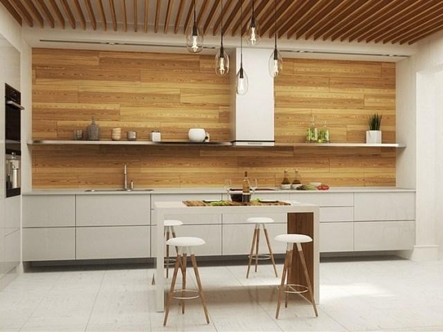 кухня в стиле минимализм дерево