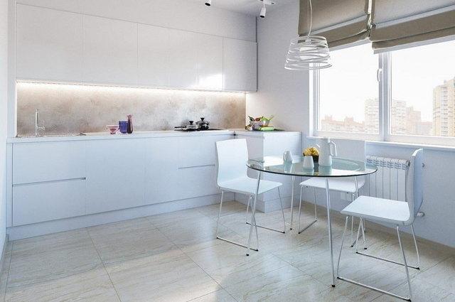 кухня в стиле минимализм какие шторы выбрать
