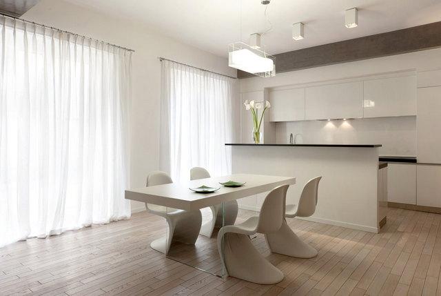 кухня в стиле минимализм текстиль