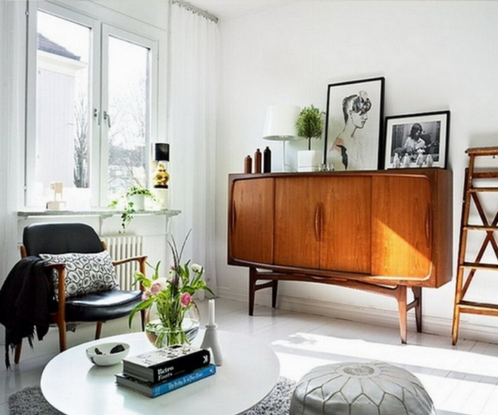 старая мебель в современном интерьере