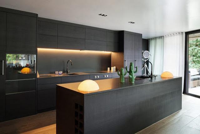 стильная кухня в стиле минимализм фото пример
