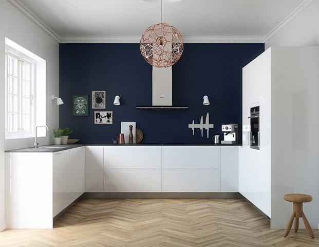 светлые кухни в стиле минимализм на фото