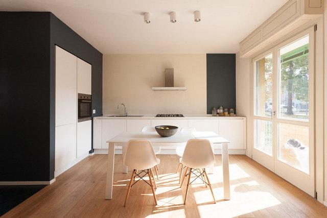 светлые шторы в стиле минимализм пример