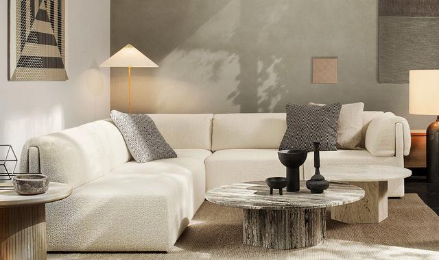 тренды дизайна интерьера 2021 диван