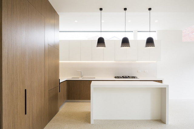 угловая кухня в стиле минимализм на фото