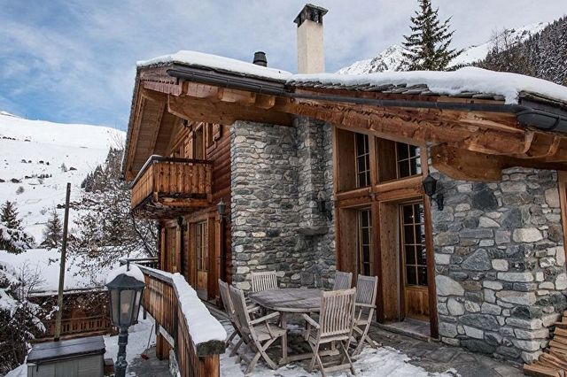 дома из бруса в стиле шале