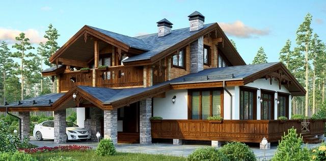 дома в стиле шале двухэтажные пример