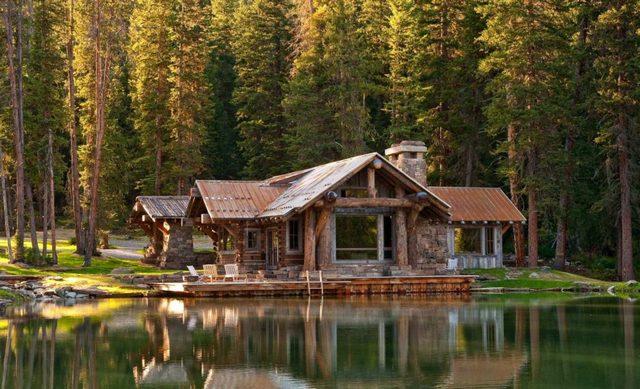 дома в стиле шале у озера фото