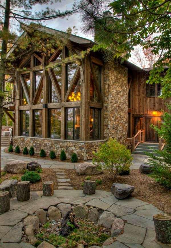 фасады дома в стиле шале