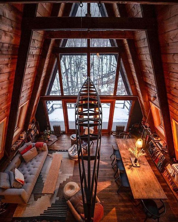 интерьер дома в стиле шале супер дизайн