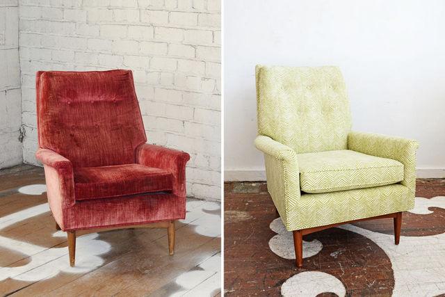 как декорировать старое кресло