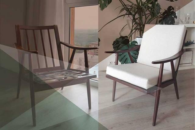 как из старого кресла сделать современное легко пример