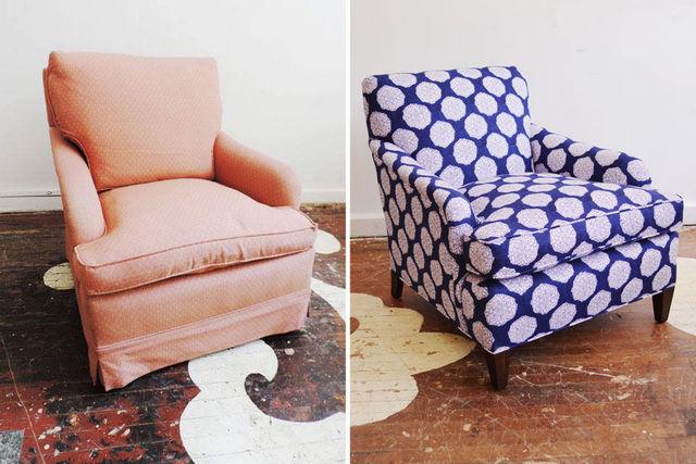 как перетянуть кресло кровать своими руками